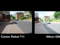 Canon Rebel T1i vs. Nikon D90