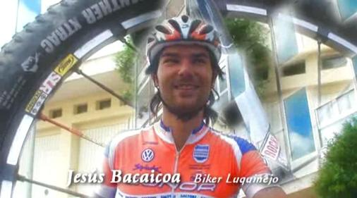 Jesús Bacaicoa en Estella - Lizarra,  primer Trofeo Cerámicas Egurza.