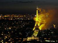 Eiffel Tower on Fire