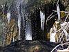 Cascata termale Capelvenere d'inverno