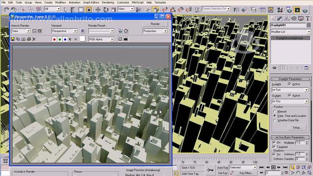 Tutorial 3ds Max - Mental Ray - Plugin Greeble: Paisagens urbanas