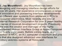 S. Joy Mountford vertelt