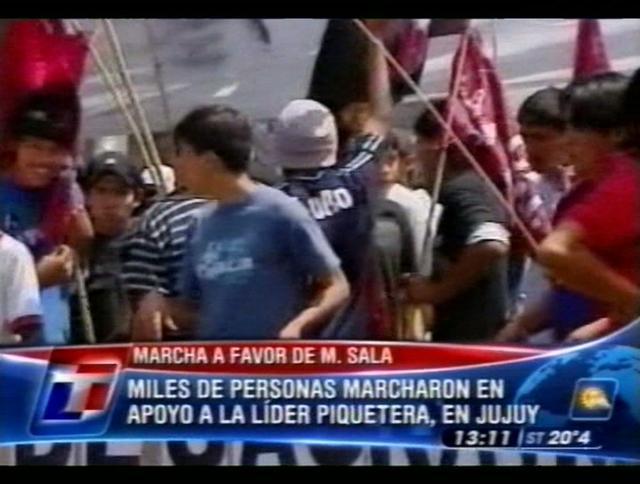 Movilización en apoyo a Milagro Sala