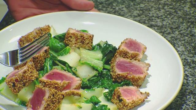 Sesame and Peperoncino Tuna