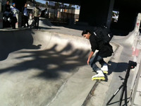 this is Erick Rodriguez with 50/50's new bag sample on some '97 shit skating his bowl.  New Fifty-50 backpack coming spring 2010  cellphone-camera-skate-video coming soon. jk  www.fifty-50.com