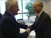 Meeting with the President of the European Parliament Mr. Jerzy BUZEK.