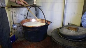 Making cheese in the Alps