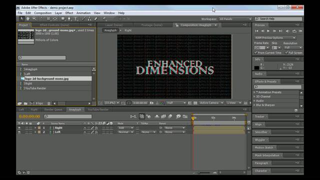 Basic Stereoscopic 3d After Effects Tutorial Part 1