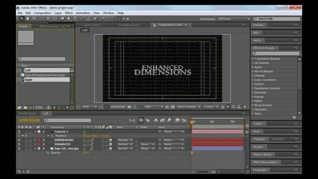 Basic Stereoscopic 3d After Effects Tutorial Part 2