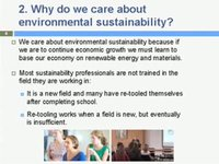 New Master's in Sustainability Management—Why We Care