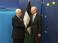 With Mahmoud Abbas