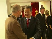 With Romano Prodi – handshake