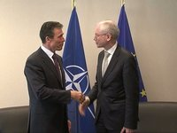 With Secretary General of NATO