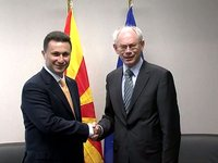 With PM of the Former Yugoslav Republic of Macedonia