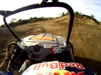 Ronnie Renner sitting shotgun with his GoPro on Mr. Miller's Wild Ride